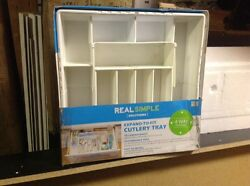 Real Simple Solutions 10 Compartment Expand-To-Fit Drawer Clutter Organizer