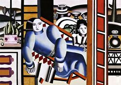 Mother and Child Painting by Fernand Leger Art Reproduction