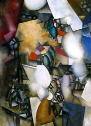 The Smokers Painting by Fernand Leger Art Reproduction
