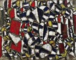 Contrast of Forms Painting by Fernand Leger Art Reproduction
