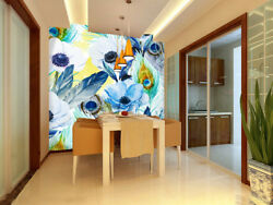 3D Flower And Feather 5 Wall Paper Wall Print Decal Wall Deco Indoor Wall Murals