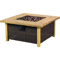 Bond Manufacturing Fire Pit Table Stainless Steel Burner Brown Outdoor Heating