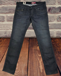 Hamp;M Blue Jeans Pants With Zipper Legs Fit Women#x27;s Size 14 or 33 $49 NWT $9.95