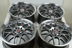 4 New DDR R1 16x7 5x100114.3 35mm Gunmetal Machined Lip 16