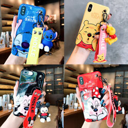 Cute stitch minnie pooh Wristband case Cover for iPhone 12 11 Pro XS Max XR 7 8 $8.96