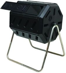 Composter Tumbler in Black with Two Chambers for Efficient Batch Composting $102.59
