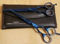 7 Inch Blue Professional Barber Salon Hair Cutting Japanese Scissors Thinner Kit $19.99