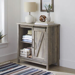 Farmhouse Accent Storage Cabinet Barn Doors Rustic Bedroom Bathroom TV Stand $296.74