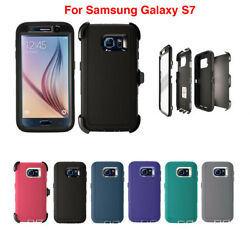 For Samsung Galaxy S7 Defender Case w (Clip fits Otterbox) & Screen Protector $9.79