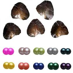 US Stock 10PCS Freshwater Twins Pearl Oyster With 7-8mm Wish Pearl Mix Color