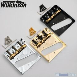 Wilkinson WTB Vintage Telecaster Guitar Bridge w Compensated Brass Saddles Tele $32.95