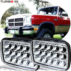 Pair LED Headlights Sealed Beam For Dodge W250 D350 Ram 81-93 Dodge Ramcharger