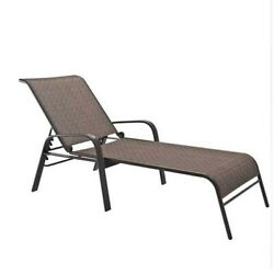Atlin Designs Reclining Patio Chaise Lounge in Brown