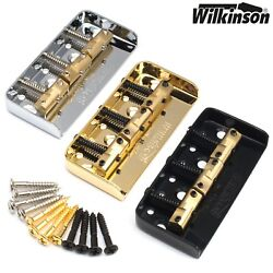 Wilkinson WTBS SHORT Telecaster Guitar Bridge w Compensated Brass Saddles Tele $32.95