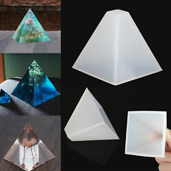 Pyramid Silicone Mold Resin Jewelry Making Mould Epoxy Pendant Craft DIY Tool $8.48