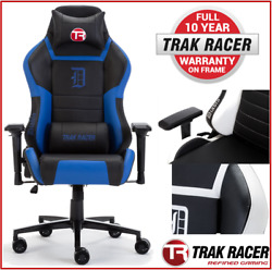 _Trak Racer DIABLO Gaming Chair - Office Computer Racing PU Leather Executive Bl