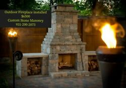 Big Custom Outdoor fireplace.10ft Wide X 7ft Tall Delivered & Installed Quickly