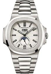 Patek Philippe 57261A-010 Nautilus Annual Calendar Stainless Steel 40.5mm White