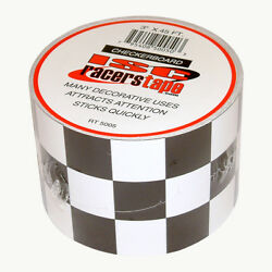 ISC Black amp; White Checkerboard Tape: 3 in. x 15 yds. Black White Square pattern $14.09