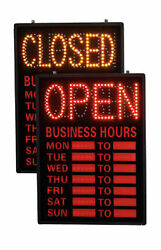 Open Closed LED Sign With Hours 16
