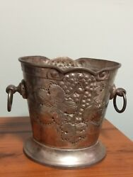 Vintage Copper Bucket Decorative From India $10.99