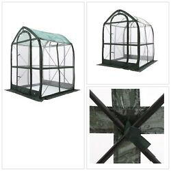 POP UP GREENHOUSE Plant House 5 ft. x 5 ft. Portable Flowerhouse Clear Finish US