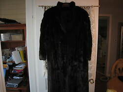 WOMENS MINK COAT NATURAL MAHOGANY FULL LENGTH (MEDIUM) WORN 1X WONDERFUL!