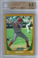 2011 Mike Trout Bowman Chrome Gold Refractor RC- BGS 9.5 w10 sub... #2450