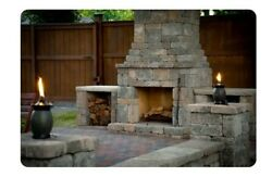 Castlstone XL Outdoor Fireplace Kit10ft Wide X 7ft TallMake Winter Great Again