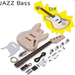Professional JAZZ Bass Style Unfinished DIY Electric Bass 4 String Kit Gift