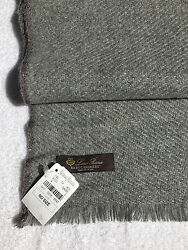 NEW with Tag $ 1650. Gray LORO PIANA Cashmere Scarf Shawl in Box Perfect Gift