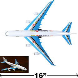 PLANE TOY A380 JET 763 BIG PULL CORD COMMERCIAL AIRPLANE PLANE ASSEMBLE $7.99