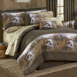 Duck Approach Full size Comforter and sheet set Hunting Cabin Decor