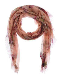 Gucci Womens  Blooms Print Cashmere & Wool-Blend Scarf Pink