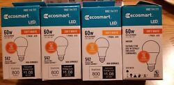 (4 Bulbs) 9W = 60W Equivalent 2700K Soft White A19 Non-Dimmable LED Light Bulb   $10.50