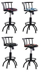 BAR STOOL BLACK ADJUSTABLE  24