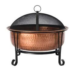COPPER WOOD BURNING Fire Pit Heat Resistant Coating Portable Outdoor Heating New