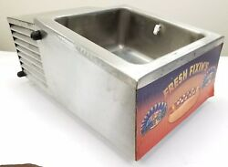 APW Wyott RTR4 Refrigerated Hot Dog Topping Fixing Condiment Countertop Bin Rail $288.88