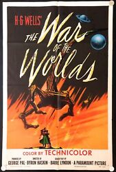 War of the Worlds 1953 Original Movie Poster One Sheet (27
