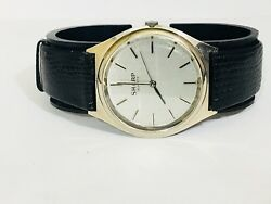 Vintage Mens Sharp Quartz Watch Silver Tone  New Old Stock From the 80s(273335)