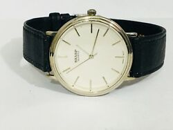 Vintage Mens Sharp Quartz Watch Silver Tone  New Old Stock From the 80s(273757)