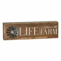 LIFE IS BETTER ON THE FARM WINDMILL TABLE SIGN Rustic Country Home Decor $14.95