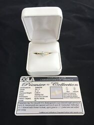 Premier Diamond Solitaire Ring - Marquise 18KT Yellow Gold - Never Worn - 3EX