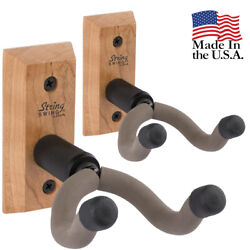 String Swing Wall Mount Guitar Hanger–Electric amp; Acoustic Cherry CC01K C 2 Pack $26.98