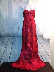 Womens formal dresses Sz6 long Beutiful red party dress. $35.00