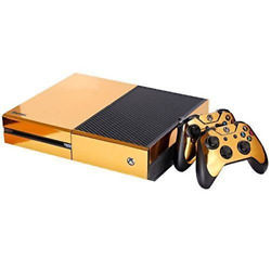 NDAD Full Body Golden Protective Vinyl Skin Decal For Xbox one Console an... New
