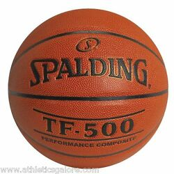 SPALDING TF 500 COMPOSITE LEATHER BASKETBALL 28.5 INTERMEDIATE SIZE $29.99