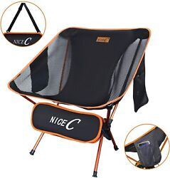 NiceC Ultralight Portable Folding Backpacking Camping Chair with 2 Storage Bags  $28.99
