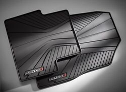 Mazda 3 Factory All Weather Floor Mats set of 4 in Black 00008BL82 2014 2018 $78.00