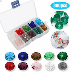 Lot 300pcs Crystal Czech Glass Bicone Loose Spacer Beads Jewelry Making 8mm DIY $8.97